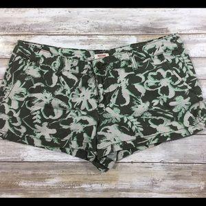 Mossimo shorts cotton print junior 11